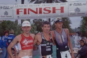 Il podio maschile della prima edizione: Palmucci, Vannacci, Sala.